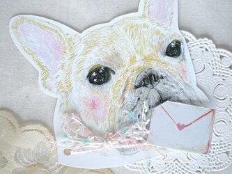 【再販】フレンチブルドックのお手紙カードの画像