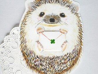 ハリネズミのお手紙カードの画像