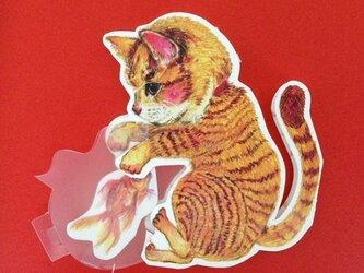 【再販】猫と金魚鉢カードの画像