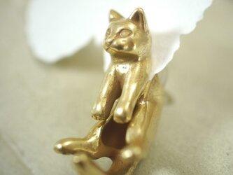 グリとラテュの猫ピアス グリ(アンティーク) 片耳の画像
