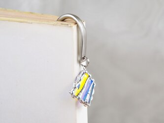 線織面の細密ステンドグラスの栞の画像