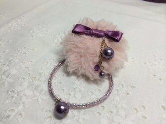 ふわふわクルミゴム 薄紫色の画像