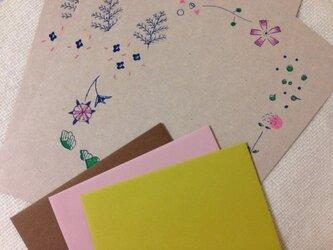 レターセット Hizuru x tocolier 花の画像