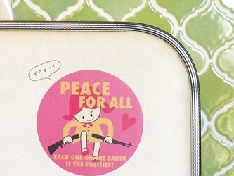 PEACE FOR ALL ステッカーの画像