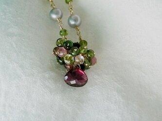 トルマリンの花束ネックレスの画像