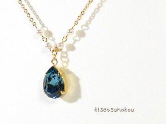 藍のキラメキ ネックレス の画像