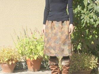 十日町紬の毎日スカート(バラ・M)の画像