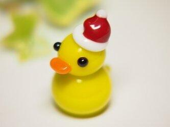 あひるのミニミニオブジェ クリスマスバージョンの画像