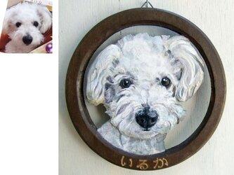 ペットの肖像レリーフ小(サークル型/オーダーメイド)の画像