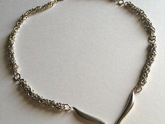チェーンメイルネックレス silver950(top V )の画像