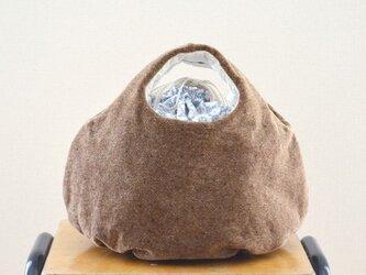 ころりんバッグ「別珍ドット」の画像