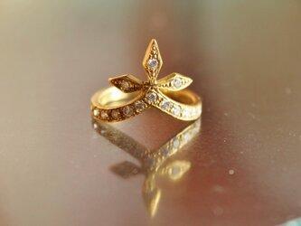 Gothic Crown Ring DiaK18の画像