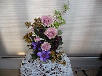 sold ピンクのバラのアレンジメントの画像