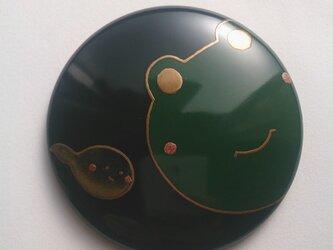 蒔絵姫鏡『かえる(みどり)』の画像