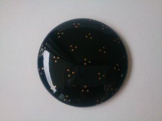 蒔絵姫鏡『三つ丸(黒)』の画像