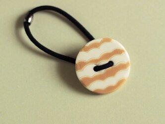 磁器ボタンゴム 丸 ナミ ベージュの画像