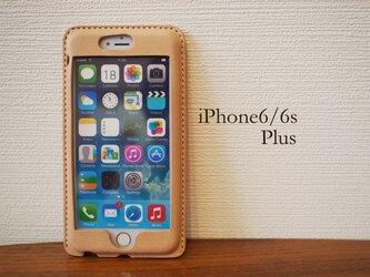 【名入れ・選べる革とステッチ】iPhone6sPlus/6Plus カバー ケース の画像