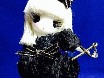 夕姫ドール ロリータ風お人形ストラップ(ブラック)の画像