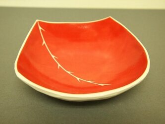 red small plate (ibara)の画像