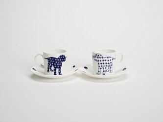 Pair Dog Coffee Cups 犬のペアコーヒーカップの画像