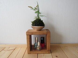 木の飾り棚ー01(ウォルナット)の画像