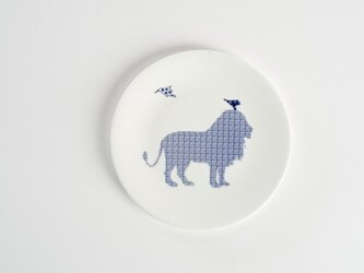 Lion Birds Plate-ライオンと鳥のお皿-の画像