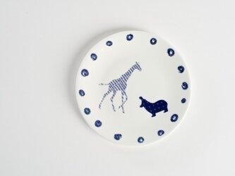 Giraffe Hippo Plate -キリンとカバのお皿-の画像
