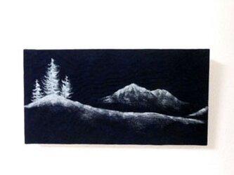 手描きファブリックパネル silent nightの画像
