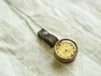 【受注生産】首からさげる時計 dot gold N002の画像