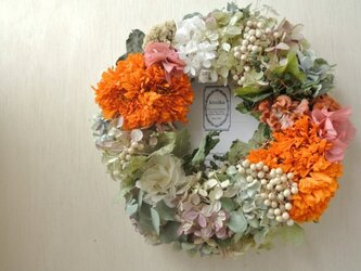 水無月と花々のwreath-マリーゴールド-の画像