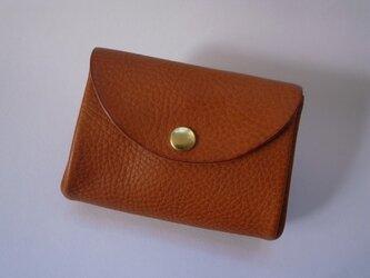 イタリア革のコインケース*オレンジの画像