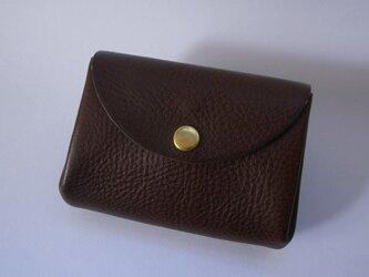 イタリア革のコインケース *チョコの画像