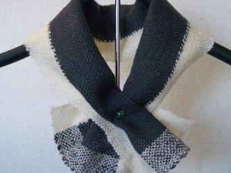 草絵木織り® ミニマフラー・初雪の画像