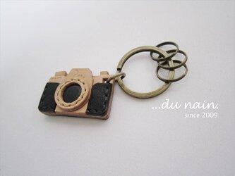 本革 カメラのキーホルダー(受注製作)の画像