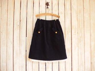 フラップポケット付きスカート(No.01/ネイビーコーデュロイ)の画像