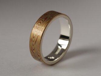 木目金リング(銅、真鍮、洋白、青銅)22号の画像