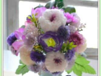 フューネラルフラワー 供花 紫蓮の画像