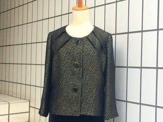 【SOLD OUT】金糸と銀糸の織り柄のジャケットの画像