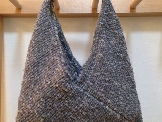 手織りあずま袋  ふわふわグレーの画像