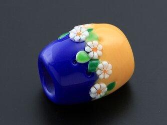 とんぼ玉帯留 フラワーリングの画像