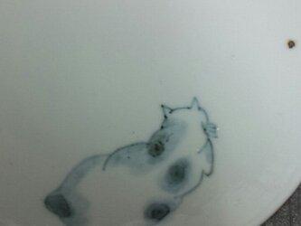 染付4寸猫皿 16の画像