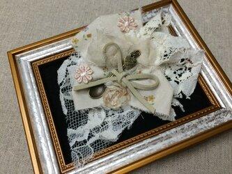 ヘアアクセブローチ(紅茶染スプーン)〜プレリライン〜の画像