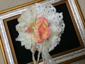 ヘアアクセ(バラとガーベラ)〜プレリライン〜の画像