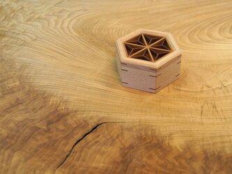 六角組子蓋小箱の画像