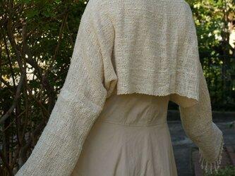手織り マーガレット・ボレロ (オフホワイト)の画像