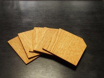 隅切茶托(小,なら)5枚セットの画像