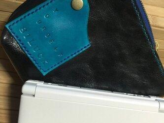 本革レザーNEW3DS、3DS、3DSLL用ポーチの画像