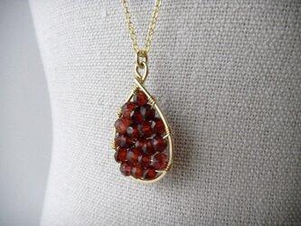 14kgf dew ネックレス ~pomegranate~の画像