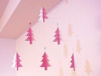 モビール - クリスマス・ツリー(pink) -の画像