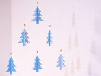 モビール - クリスマス・ツリー(blue) -の画像